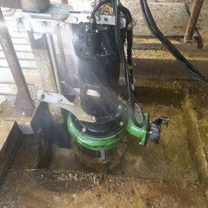 Gülle-Tauchmotorpumpe in der Vorgrube