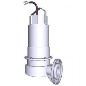 EP1 Tauchmotorpumpe ohne Standring mit DN50-Flansch