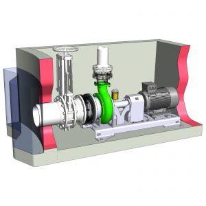 Behälterentnahme mit ER4-E L Pumpe