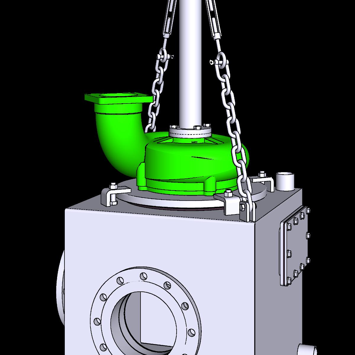 Bild Aufsatzpumpe ER3-E AR trocken aufgestellt