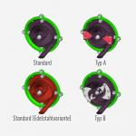 Darstellung der verschiedenen Laufradtypen
