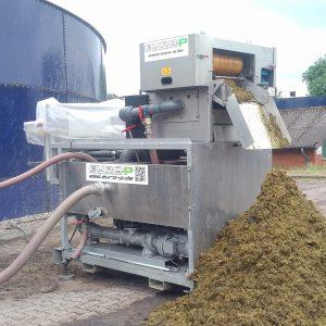 Separieren von Biogassubstrat mit dem Rollenseparator