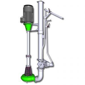 Pumpe ER4-E mit Rohr ø159