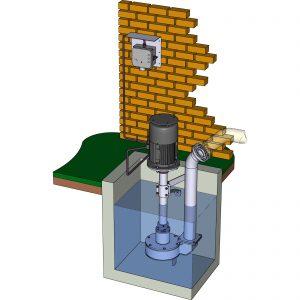 Sickerwasserpumpe ER1 im Schacht