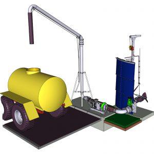 Beispielbild ER3-E L-Pumpe mit Faßfülleitung