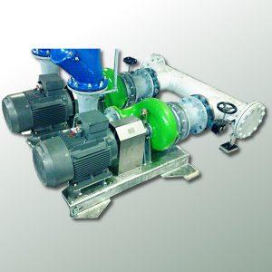 Doppelpumpstation mit zwei ER3-E L-Pumpen für industrielle Anwendung