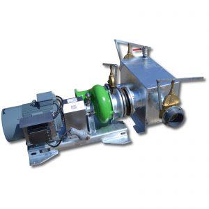 ER3-E L-Pumpe mit saugseitigem Sammelkasten