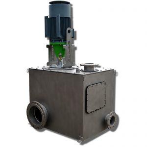 Sammelkasten mit obenansaugender ER4-Pumpe