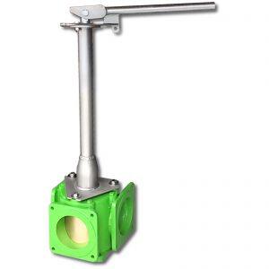 Vierwegeschieber mit Steckschlüssel für Handbedienung