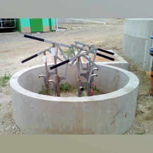 Einbau Gülleverteiler mit Schiebern