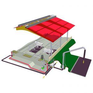 ER3-Pumpe, Verteilerkasten und Faßfülleitung