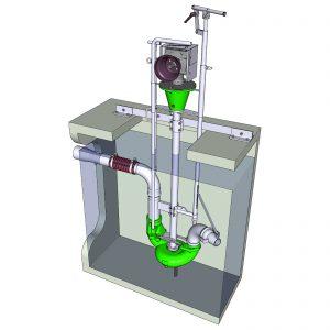 zapfwellenangetriebene ER2-S Pumpe mit Unterflurabgang