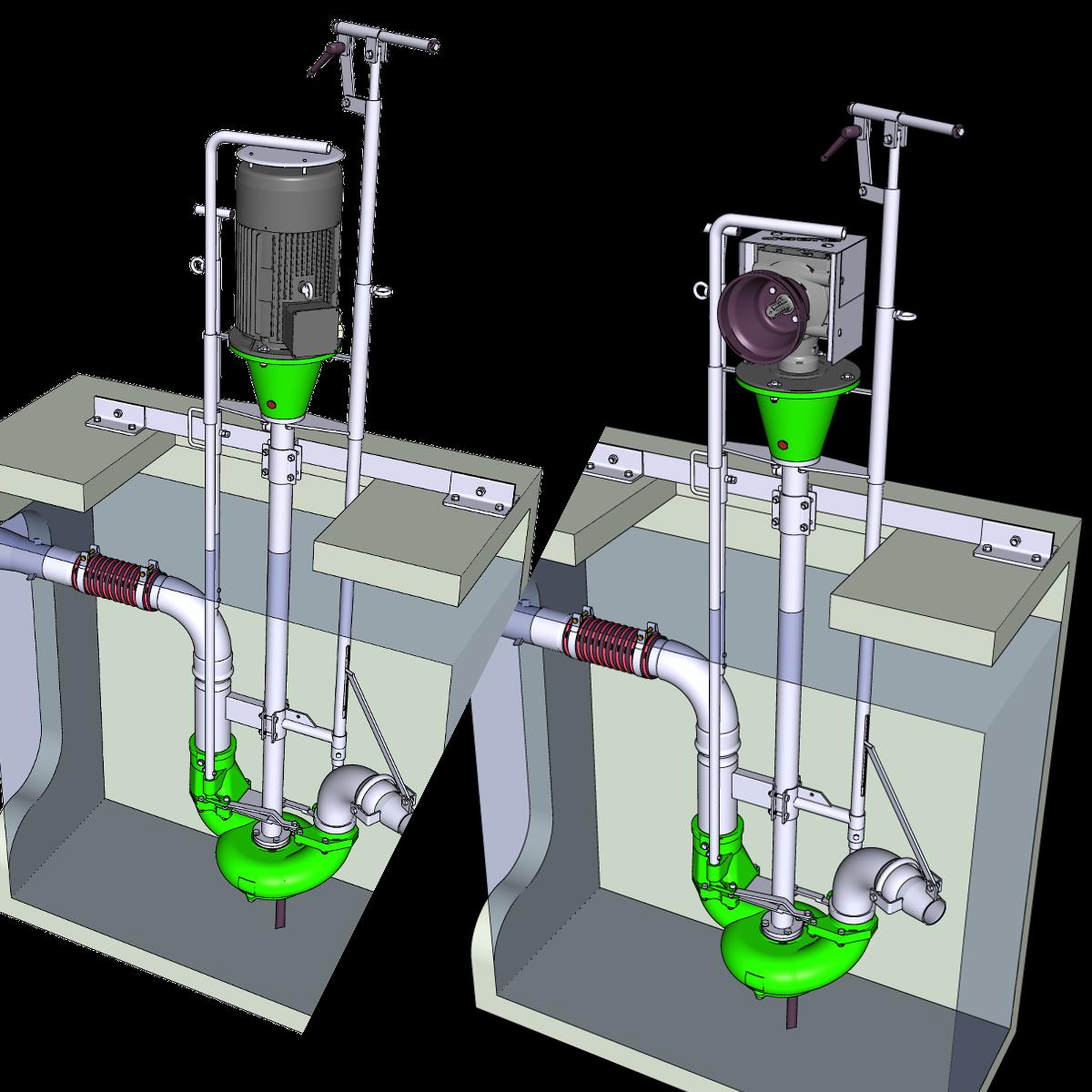 Portfolio ER2-Pumpe mit Unterflurabgang